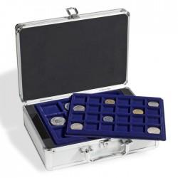 Valisette numismatique pour 112 pièces de monnaie