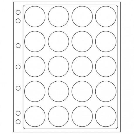 Pochettes plastique ENCAP transparentes pour 20