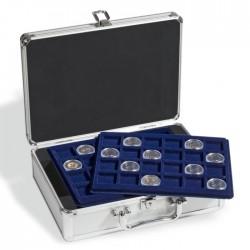 Valisette numismatique pour 144 pièces de monnaie - 2 euros sous capsules