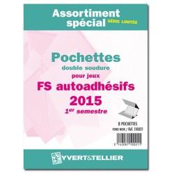 Assortiment de pochettes Auto Adhésifs 2015- 1er semestre (double soudure)