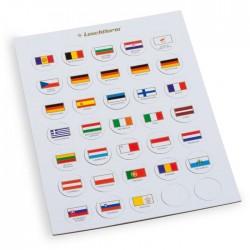 CHIPS  drapeaux EURO - Pour illustrer les collections 2 euros