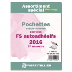 Assortiment de pochettes Auto Adhésifs 2015 FS 2ème semestre (double soudure)