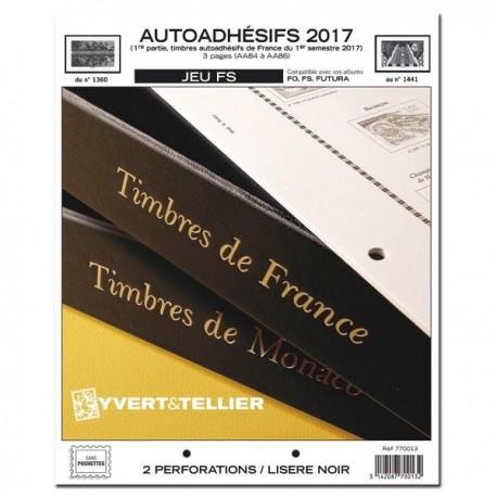 Jeu France FS 2017 1er semestre - Auto adhésifs YVERT ET TELLIER