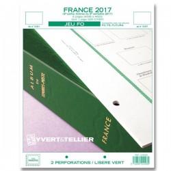 Jeu France FO 2017 2ème semestre YVERT ET TELLIER