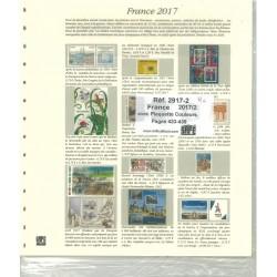Feuilles France  SAFE 2017 2ème semestre avec plaquettes couleur