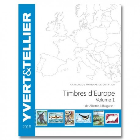 Catalogue Europe Vol 1 - édition 2018 Yvert et Tellier