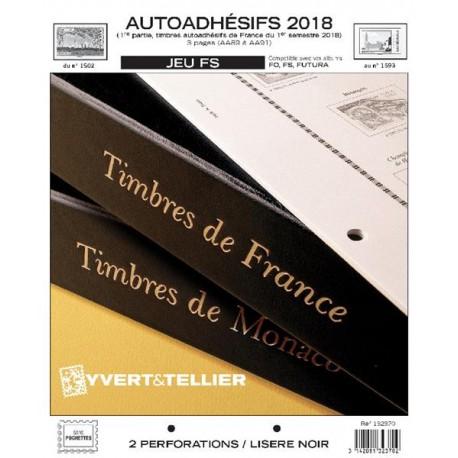 Jeu France FS 2018 1er semestre - Auto adhésifs YVERT ET TELLIER