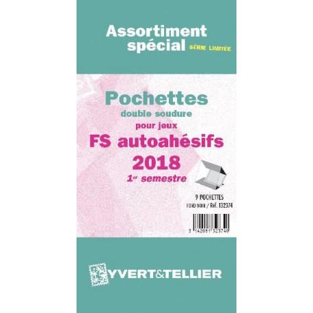 Assortiment de pochettes Auto Adhésifs 2018 FS 1er semestre (double soudure)