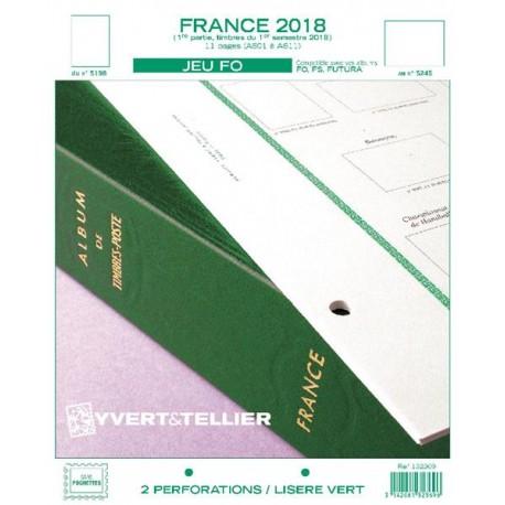 Jeu France FO 2018 - 1er semestre YVERT ET TELLIER