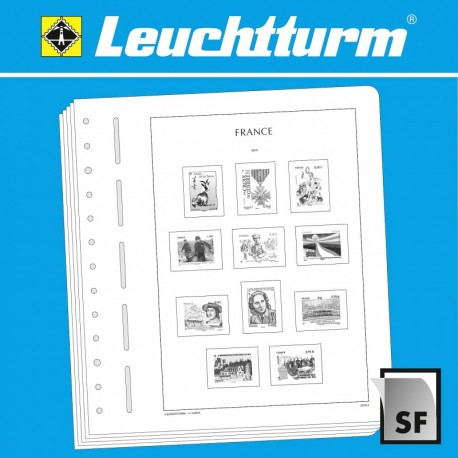 LEUCHTTURM SF-Feuilles préimprimées France timbres autocollants 2018