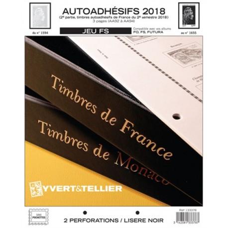 Jeu France FS 2018 2ème semestre Auto adhésifs YVERT ET TELLIER