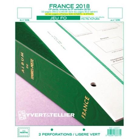 Jeu France FO 2018 2ème semestre YVERT ET TELLIER