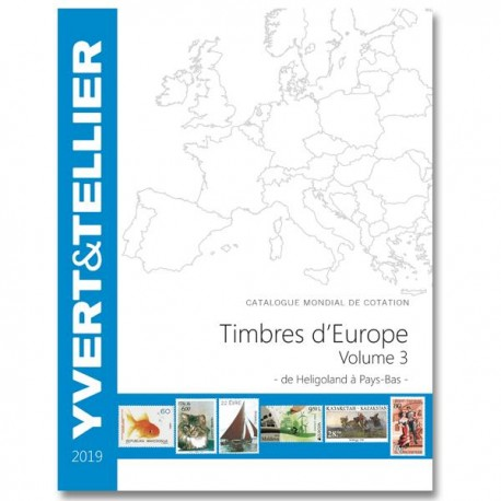 Catalogue Europe Vol 3 - édition 2019 Yvert et Tellier