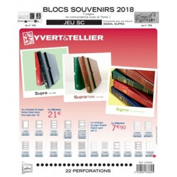 Jeu SC Blocs souvenirs 2018 YVERT ET TELLIER