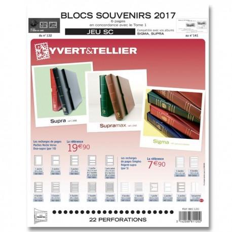 Jeu SC Blocs souvenirs 2017 YVERT ET TELLIER