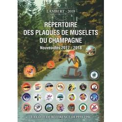 ADDITIF 2018 au 13ème répertoire des plaques de muselets du champagne