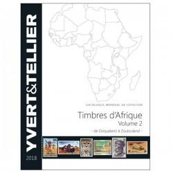 AFRIQUE Volume 2 - 2018  (Timbres des pays d´Afrique de Griqualand à Zoulouland)