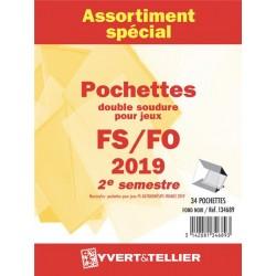 Assortiment de pochettes 2019  2ème semestre FO/FS (double soudure)