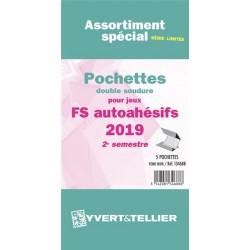 Assortiment de pochettes Auto Adhésifs 2019 FS 2ème semestre (double soudure)