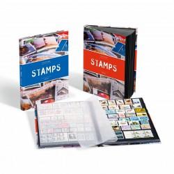 Classeur A4, 16 pages noires, couverture stamps