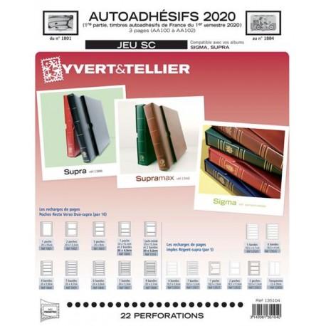 Jeu SC France 2020 Auto adhésifs 1er semestre  - YVERT ET TELLIER