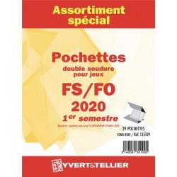 Assortiment de pochettes 2018  2ème semestre FO/FS (double soudure)