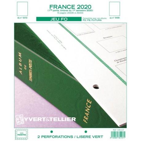 Jeu France FO 2020 - 1er semestre YVERT ET TELLIER