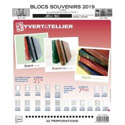Jeu SC Blocs souvenirs 2019 YVERT ET TELLIER