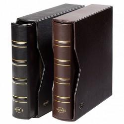 Classeur et étui de protection NUMIS en cuir véritable