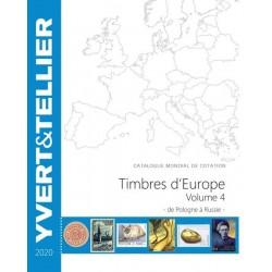 Catalogue Europe Vol 4 - édition 2020 Yvert et Tellier