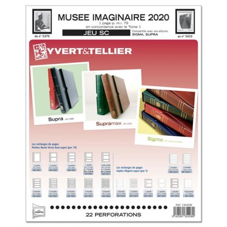 Jeu SC Musée Imaginaire 2020 YVERT ET TELLIER