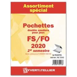 Assortiment de pochettes 2020  2ème semestre FO/FS (double soudure)