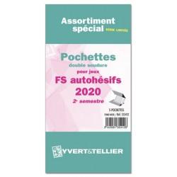 Assortiment de pochettes Auto Adhésifs 2020 FS 2ème semestre (double soudure)