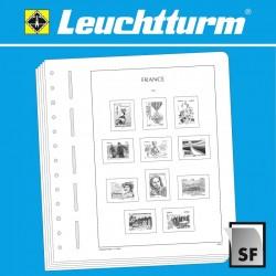 LEUCHTTURM SF-Feuilles préimprimées France timbres autocollants 2019 LEUCHTTURM
