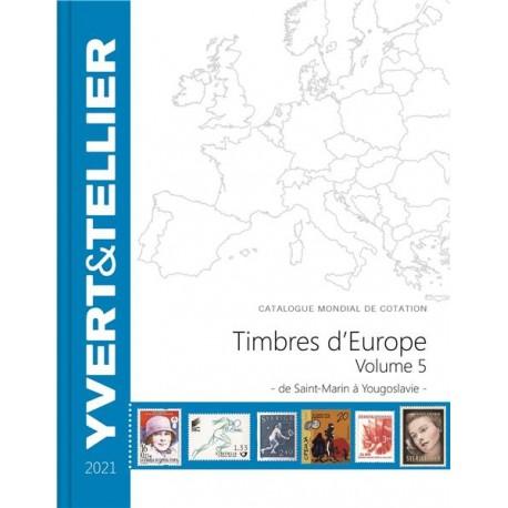 Catalogue Europe Vol 5 - édition 2021 Yvert et Tellier