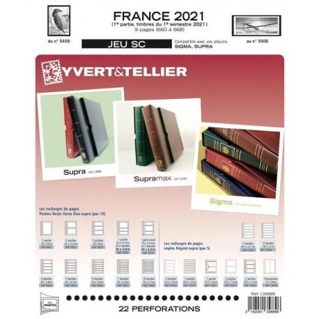 Jeu France 2021 - 1er semestre SC - YVERT ET TELLIER
