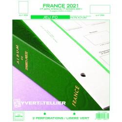 Jeu France FO 2021 - 1er semestre YVERT ET TELLIER