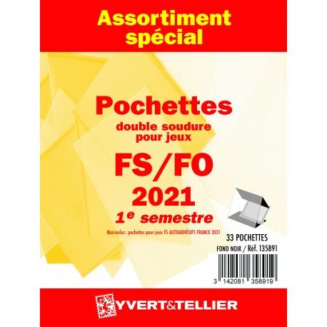 Assortiment de pochettes 2021 1er semestre FO/FS (double soudure)