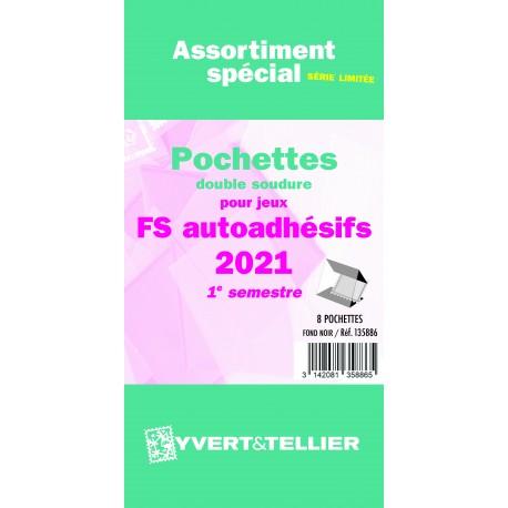 Assortiment de pochettes Auto Adhésifs 2021 FS 1er semestre (double soudure)