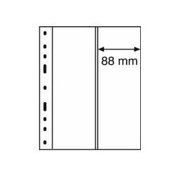 Feuilles OPTIMA transparentes 2 bandes verticales