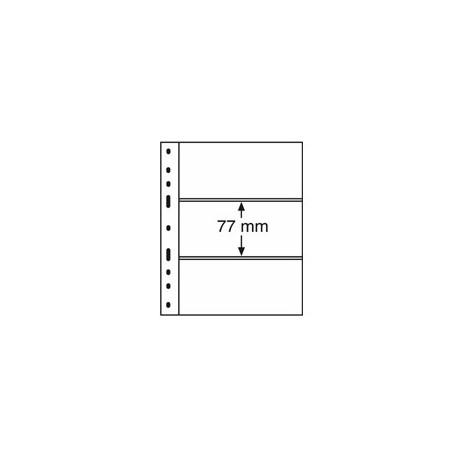Feuilles OPTIMA 3C transparentes 3 poches