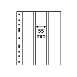 Feuilles OPTIMA transparentes 3 bandes verticales