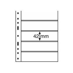 Feuilles OPTIMA transparentes 5 bandes horizontales