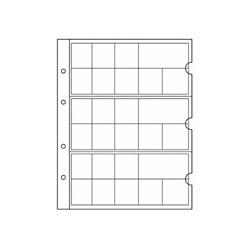 Feuilles NUMIS NH 24 et intercalaires en carton blanc