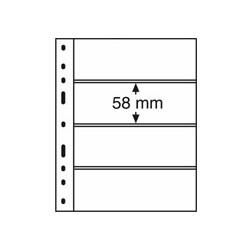 Feuilles OPTIMA noires 4 bandes horizontales