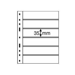 Feuilles OPTIMA noires 6 bandes horizontales