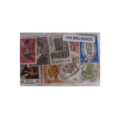 100 timbres de Belgique