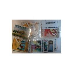 100 timbres du Cambodge