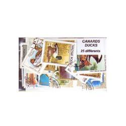 25 timbres de canards