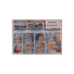 100  timbres de bateaux